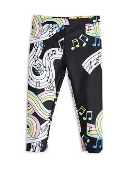 mini rodini - Melody fancy leggings, black