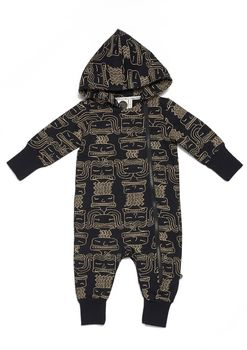 Mainio - Mime hooded jumpsuit, black