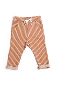 Monkind - Terracotta Stripe Pocket Pants