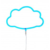 A little lovely company - Neon light cloud, blue