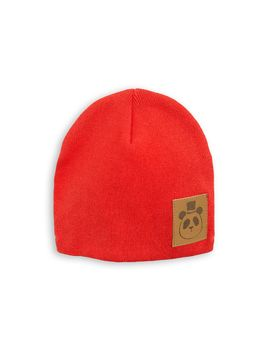 mini rodini - Panda hat, red