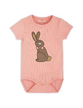 mini rodini - Rabbit SS body, pink