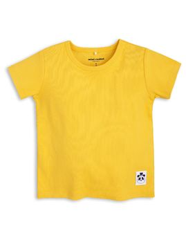 mini rodini - Solid rib tee, yellow