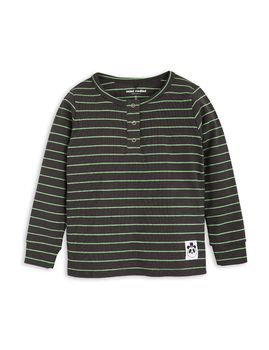 mini rodini - Stripe rib grandpa, black