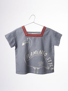 Bobo Choses - Sailor shirt, flamingo
