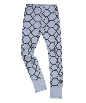 Beau LOves - Slim pants with cuffs love net, chalk blue