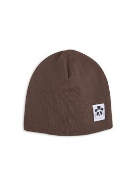 mini rodini - Solid rib beanie, brown