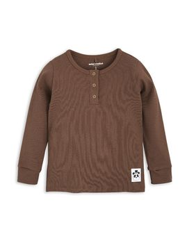 mini rodini - Solid rib grandpa, brown