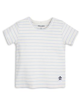 mini rodini - Stripe rib tee, lt blue