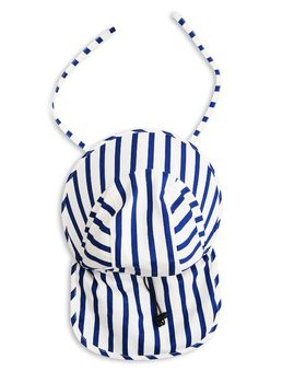 mini rodini - Stripe sun cap, blue