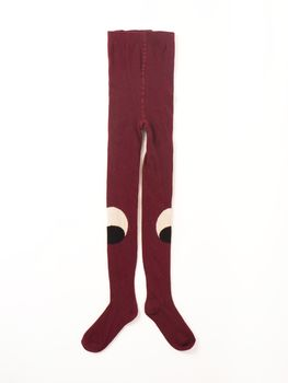 Bobo Choses - Tights eyes burgundy, aubergine