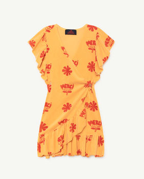 TAO - Whale kids dress, yellow flowers 000887-095