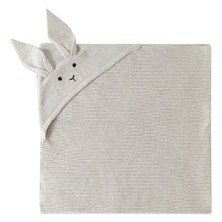 Liewood - Willie knit blanket rabbit, dumbo grey