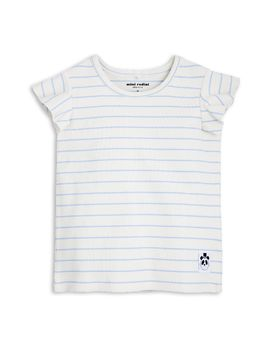 mini rodini - Stripe rib wing tee, lt blue