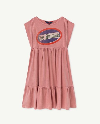 TAO - ROBIN KIDS DRESS, PINK THE ANIMALS