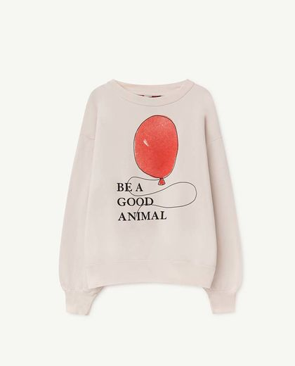 TAO - BEAR KIDS SWEATSHIRT, WHITE BALLOON