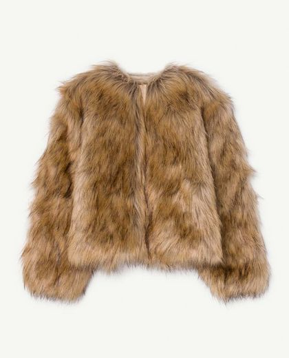 TAO - FURRY SHREW KIDS JACKET, BROWN FUR