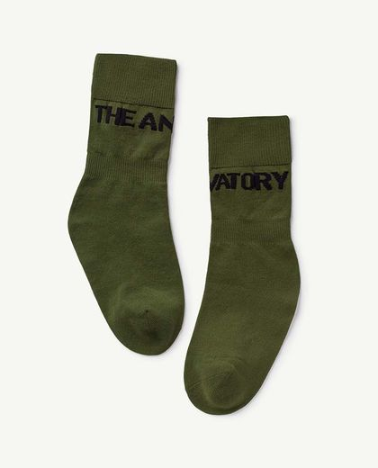 TAO - WORM KIDS SOCKS, MILITARY GREEN