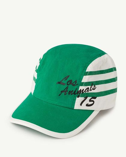 TAO - STRIPES HAMSTER KIDS CAP, GREEN LOS ANIMALS