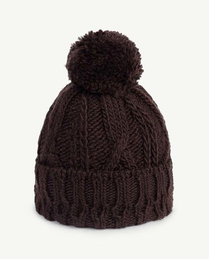 TAO - BRAID PONY ONESIZE HAT, DEEP BROWN