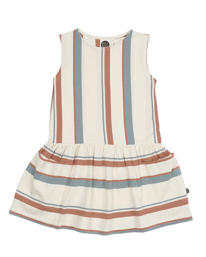 Mainio - BREEZE POCKET DRESS, whisper white / tawny orange / silver blue