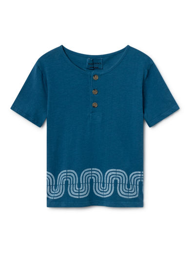 Bobo Choses - Road Buttons T-Shirt, Seaport (119270)