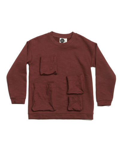 Mainio - Pocket Sweatshirt, Brown