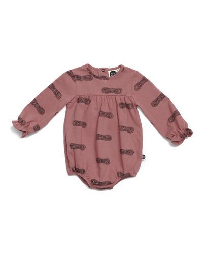 Mainio - Bow Babies' Bodysuit, Brick dust