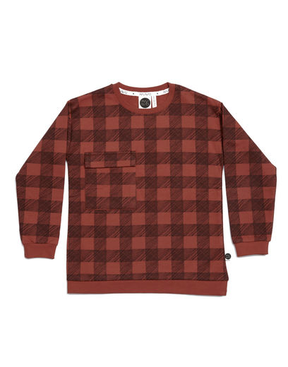 Mainio - Flannel Sweatshirt, Mango