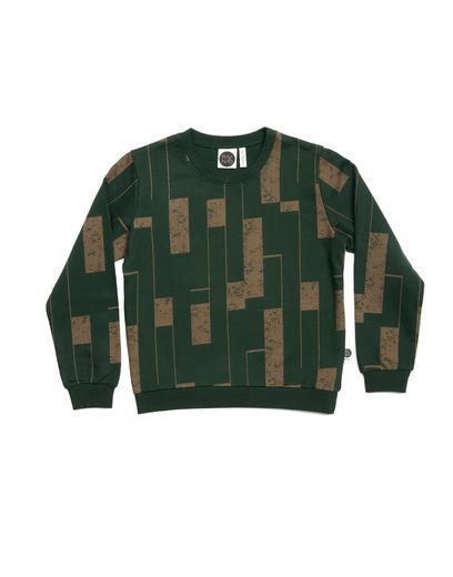 Mainio - Logs Sweatshirt, Kombu green