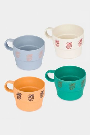 Bobo Choses - Pineapple Bamboo Cup Pack of 4, 12070005