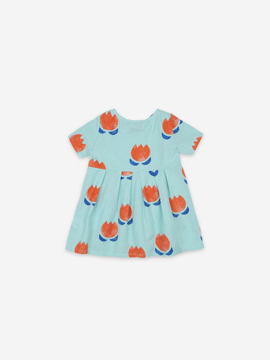 Bobo Choses - Chocolate Flowers All Over Buttoned Dress, 121AB070