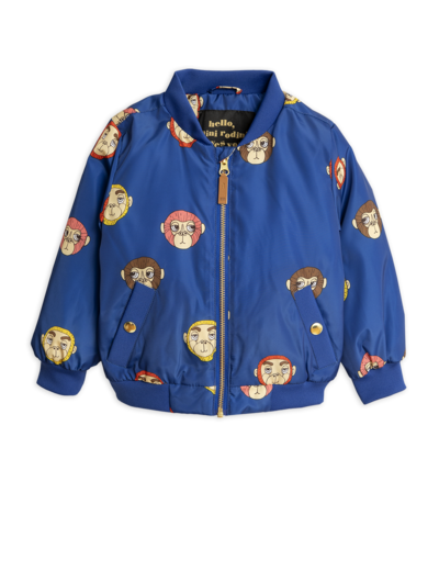 Mini Rodini - Monkey Baseball Jacket, Blue