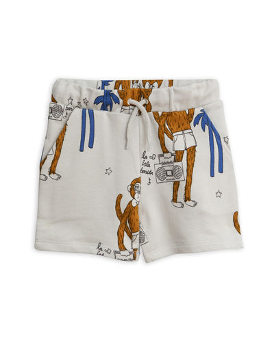 Mini Rodini - Cool monkey aop sweatshorts, Grey