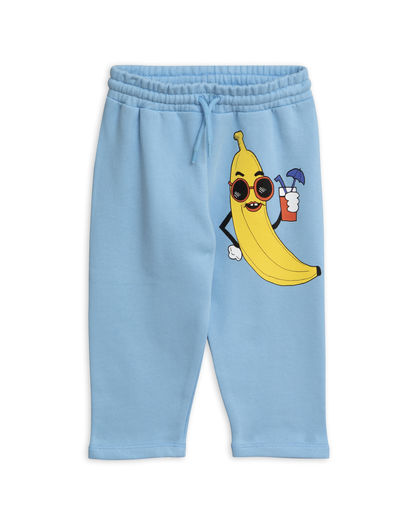 Mini Rodini - Banana sp sweatpants, Light blue