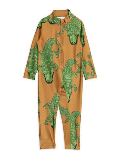 Mini Rodini - Crocco UV Suit (UPF 50+), Brown