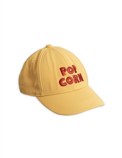 Mini Rodini - Pop corn embroidery cap, Yellow