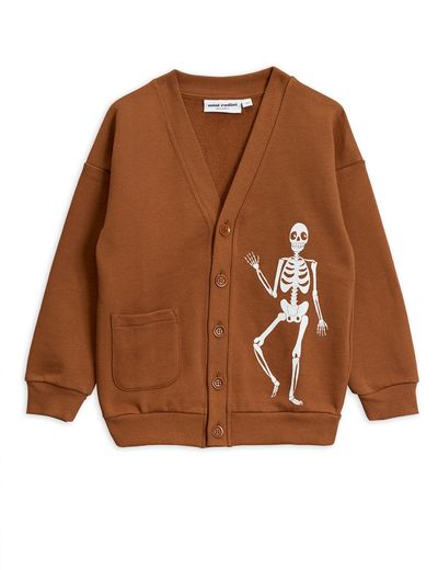 Mini Rodini - Skeleton sp cardigan, Brown