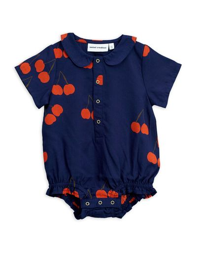 Mini Rodini - Cherry woven body, Blue