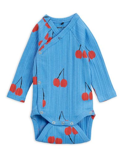 Mini Rodini - Cherry wrap body, Blue
