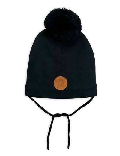 Mini Rodini - Penguin hat, Black