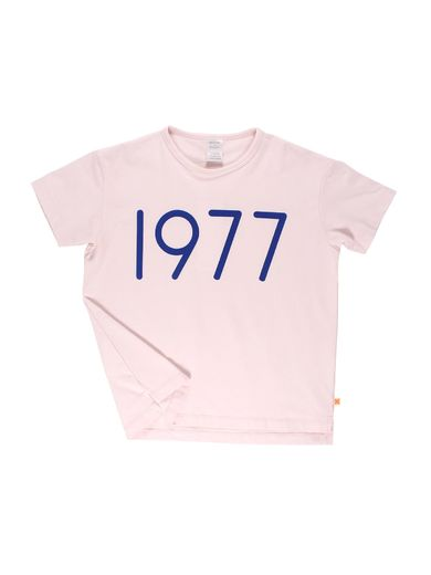 Tinycottons - 1977 SS oversized gr tee, pale pink/blue