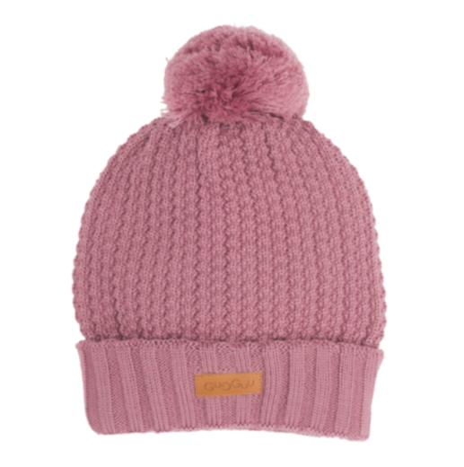 Gugguu - Beanie with one tuft, mauve