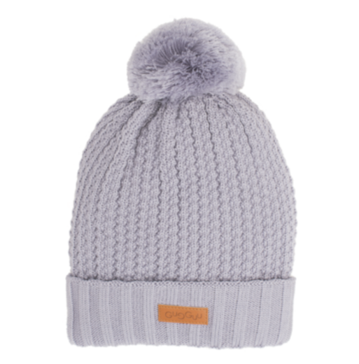 Gugguu - Beanie with one tuft, grey