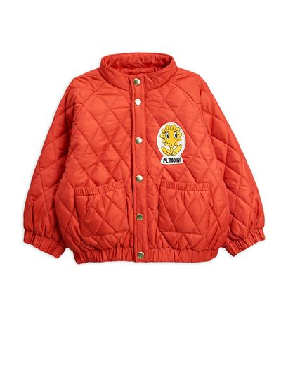 Mini Rodini - Diamond quilted jacket, Red