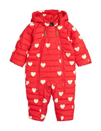 Mini Rodini - Hearts baby overall, Red