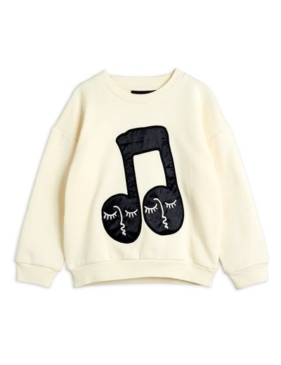 Mini Rodini - Note patch sweatshirt, Offwhite