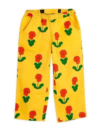 Mini Rodini - Violas woven trousers, Yellow