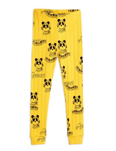 Mini Rodini - Mozart aop leggings, Yellow