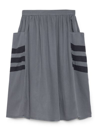 Bobo Choses - Happy Sad Empty Midi Skirt, Dusty Blue
